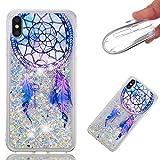 Everainy Coque iPhone XS/iphone X Silicone 3D Paillettes Glitter Transparent Motif...