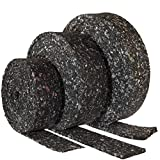 1 Terrassenpad Rolle 3mm aus Gummigranulat 500 x 5 x 0,3 cm Gummipad Bautenschutzstreifen, Diffusion Gummimatte, Unterlage Unterkonstruktionen Stühle, Füße - Antivibrationsmatte für Gummi Streifen