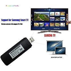 Fancartuk Adaptateur Wi-FI sans Fil USB pour TV Intelligente Samsung WIS12ABGNX WIS09ABGN 2,4 GHz et 5 GHz