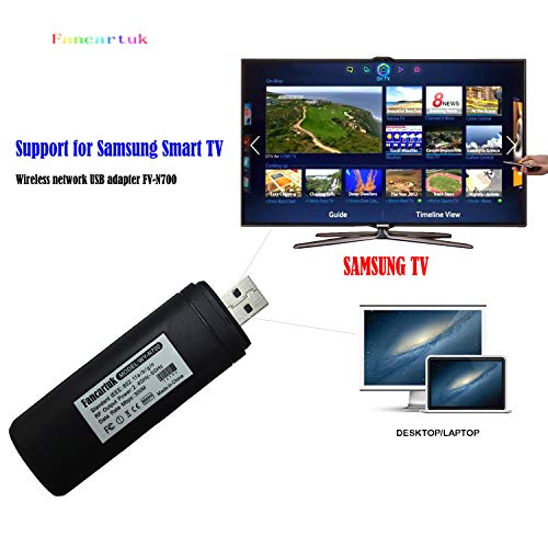Fancartuk USB-WLAN-Adapter für Samsung Smart TV, 802.11ac, 2,4 GHz und 5 GHz Dual-Band Wireless Netzwerk USB WiFi Adapter für Samsung Smart TV unterstützt Windows XP/Vista/7/8/10, Mac OS X 10.6-10.13 (Adapter Wi-fi Tv)