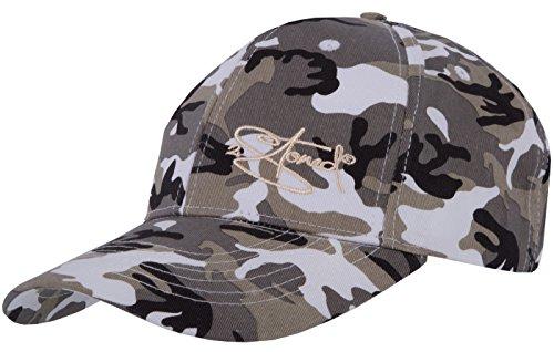 2Stoned Original Classic Snapback Baseball Cap Ice Camo mit Stick-Logo für Herren und Jungen (Camo-baseball-cap)