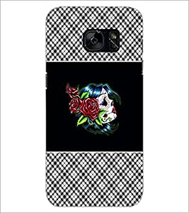 PrintDhaba Flowers D-4679 Back Case Cover for SAMSUNG GALAXY S7 (Multi-Coloured)