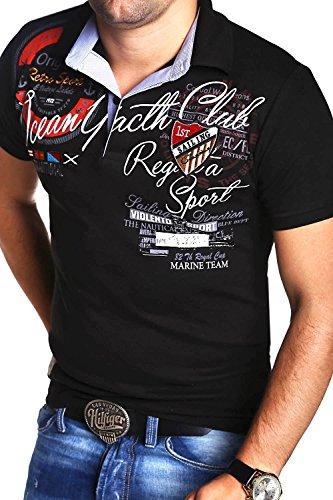 MT Styles Poloshirt SEA T-Shirt R-2842 Schwarz
