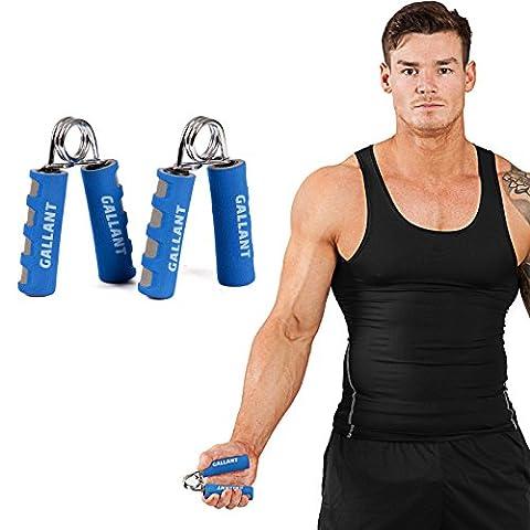Gallant Heavy Hand Grippers Strengthener Grips Wrist Forearm Fitness Exerciser PAIR (Blue - White)