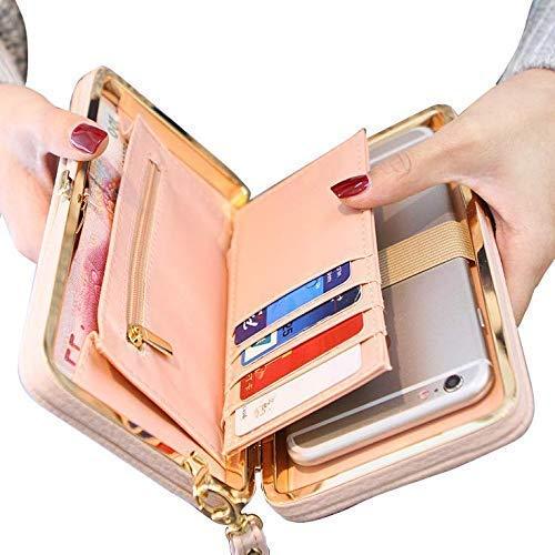 Taoqiao Frauen-Bowknot-Mappen-Lange Geldbeutel-Telefon-Kartenhalter-Kupplungs-große Kapazitäts-Tasche