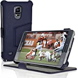 iGadgitz U3200 Folio Custodia Pelle per Samsung Galaxy Note 4 SM-N910 Cover con Pellicola - Nero