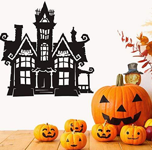 Hxfhxf Scary Haunted House Halloween Party Aufkleber Moderne Wandaufkleber Für Kinder Wohnzimmer Wohnkultur Wasserdicht Zubehör Tapete 29 * 29 cm (Haunted Halloween Fonts)