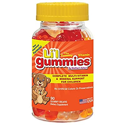 Childrens Gummies - Complete Kids MultiVitamin and Mineral Support in Childrens Vitamins - Mother's Select Li'l Gummies Contain Vitamins A, C, D, E, B and More - New Improved Great Tasting Formula! by Mother's Select