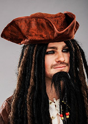 Magic Box Int. Jack Sparrow Stil braun Piratenhut - Jack Piratenhut Sparrow