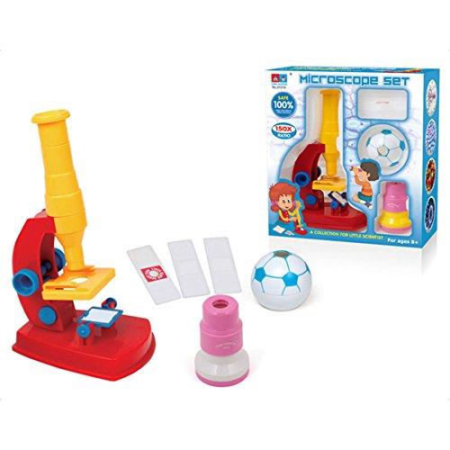 YAHAMA 150x Mikroskop für Kinder mit Kaleidoskop Teleskop Kinder Spielzeug Pädagogisches Spielzeug ab 3 Jahren