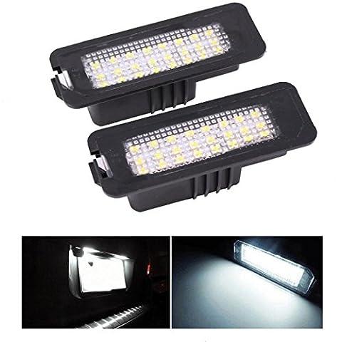 24-smd erreur gratuit Nombre de LED Feux de plaque d'immatriculation (lot de 2pcs)