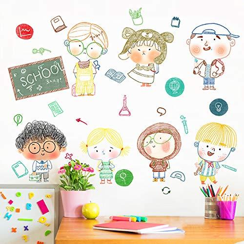 Wandaufkleber Cartoon Charakter Ornament Nette Kinderzimmer Tapete Korridor Selbstklebende Freie Aufkleber Wandbild