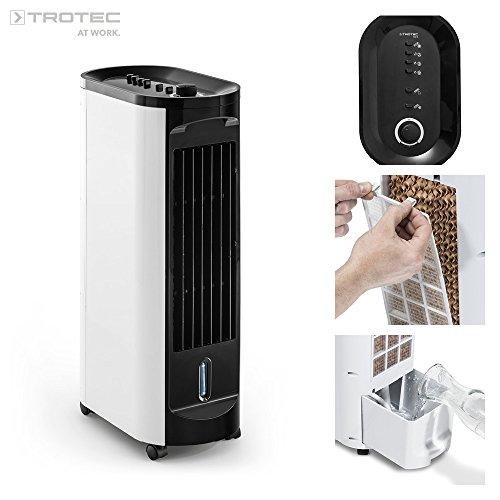 TROTEC Aircooler / mobiles Klimagerät PAE 10 3 in 1 - Gerät: Luftkühler, Ventilator, Luftbefeuchter, und Lufterfrischer (3 Gebläsestufen, Timerfunktion)