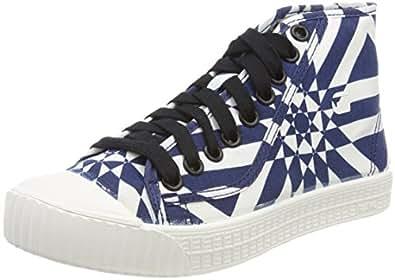 Rovulc Mid, Sneaker a Collo Alto Donna, Multicolore (Milk/Dk Saru Blue AOP 9280), 40 EU G-Star
