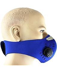 VANKER Conductores de motocicletas de la media cara Anti-polvo Máscara de filtro respirador equipo de ciclo--Azul