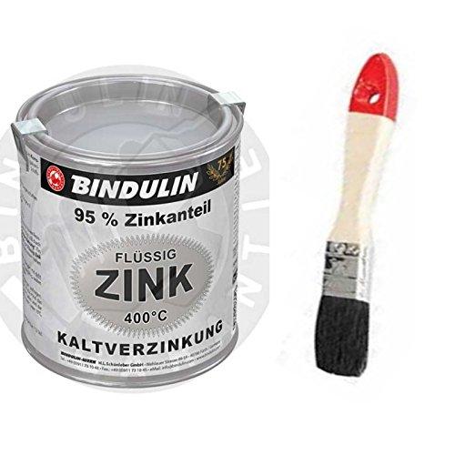 Flüssig-Zink 250 ml Dose Farbe: silber inkl. Pinsel zum Auftragen (Zink Pinsel)