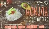Solano Konjaknudeln Tagliatelle im 5er-Set, Nudeln aus der Konjakwurzel hergestellt, Low Carb Pasta, vegan, fettfrei, glutenfrei, kalorienarm und eignen sich gut für Diäten (5x250g)