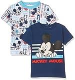 Sun City FR Mickey Mouse, Camiseta para Bebés, Azul (Bleu Marine 19-4027TC), 6-12 Meses