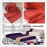 Colcha multiusos / Cubre sofás / Sobrecamas y colchas / Manta color liso para sofá 3 plazas o cama...