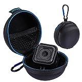 Huihong tragbar rund Fall Stocker Super Mini Aufbewahrungsbox Box mit D-Ring Sperren Karabiner für GoPro Hero5 hero4 Session Ladegerät Kabel Tasche Kopfhörer Aufbewahrung
