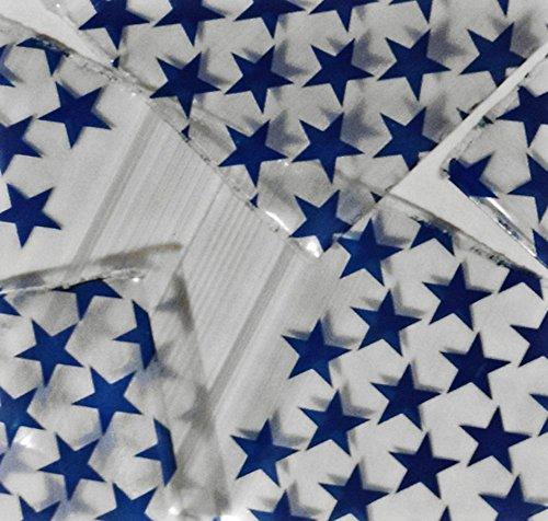 1000-5,1x 5,1cm Blue Star Design klein Kunststoff Ziploc Baggies
