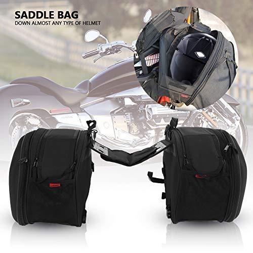 Cocoarm Motorrad Satteltasche Große Kapazität Oxford-Tuch Motorrad Gepäcktasche Einseitige Kapazität 29L Belastbarkeit 3kg Schwarz