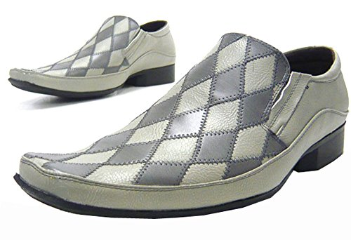 Patchino Herren Schuhe Slipper elegante Business Schuhe grau Grau
