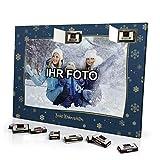 printplanet® Foto Adventskalender mit eigenem Bild personalisiert - mit Sarotti Schokolade gefüllt - Größe 35,5 x 24,5 cm - Rahmen 2