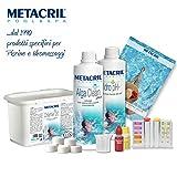 Starter Kit Chlor per trattamento sanificante acqua a base di cloro in pastiglie da 20gr. Ideale per qualsiasi tipo e marca di Piscina o Idromassaggio (Teuco, Jacuzzi, Hafro, Glass, Dimhora, Intex, Bestway, ecc.)