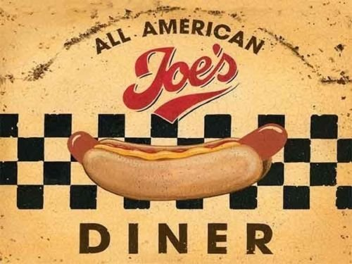 all-american-joes-dinner-hot-dog-roadside-cafe-50s-60s-dinner-food-sign-for-kitchen-house-home-cafe-