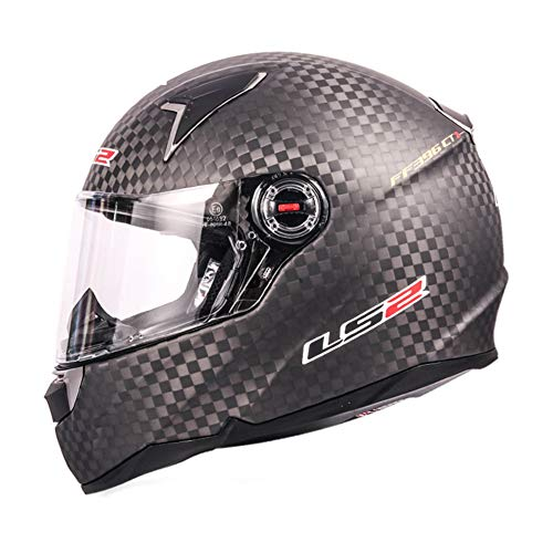 LS2 12K - Casco moto fibra carbono CR-2 CT-1 sistema