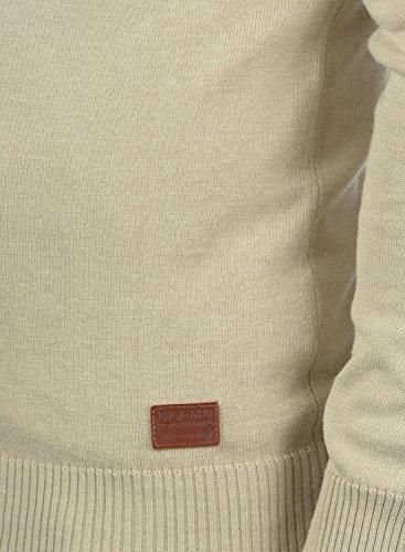 BLEND Leon Herren Kapuzenpullover Strickpullover aus hochwertiger Baumwollmischung Sand Mix (70810)