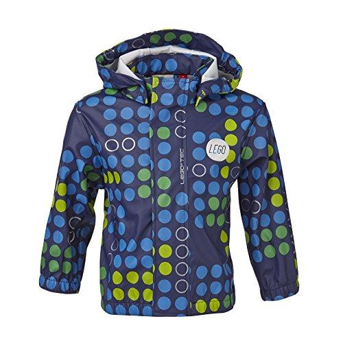 LEGO Wear Baby - Jungen Regenbekleidung LEGO duplo Regenjacke JOSH 207 gepunktet, Gr. 80, Blau (588 MIDNIGHT BLUE)