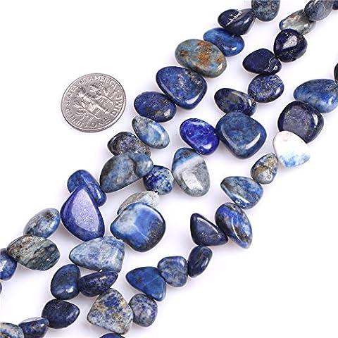 Sweet & Happy Girl'S Store 12x16mm Freefrom Gemstone Lapis Lazuli Beads Strand 15 Inch Jewellery Making