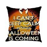 SEWORLD Happy Halloween Kissenbezüge Leinen Sofa Kissenbezug Home Decor F