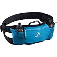 Salomon L40416100 Cintura da Corsa Energy Belt, con 2 Borracce da 200 ml Incluse, Blu (Hawaiian Surf/Night Sky)