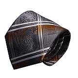 URSFUR Corbata elegante de los hombres Corbata de la boda Corbata de negocios Corbata de la entrevista Plata