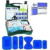 Jfa Petite Traiteur BSI kit de premiers secours Y Compris Boîte de 100 pansements Bleu