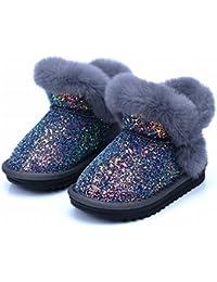 Los Niños Botas de Nieve Invierno Bebé Lentejuelas Niñas Botas Cálidas Botas de Algodón Bebé Princesa Zapatos,Do,25