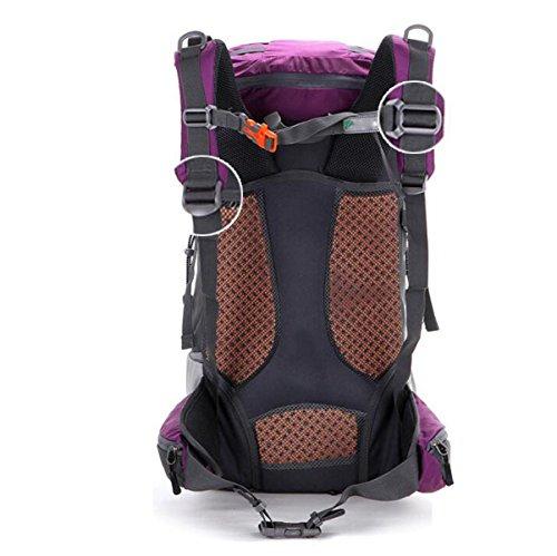 Outdoor-Schultertasche Weibliche Männliche Reise Sport-Paket Neutral Wasserdichte Walking Rucksack,Red Purple