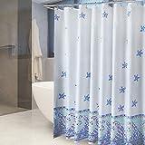 ZHAS Duschvorhang Polyester Wasserdichte Shelter schimmelige Dicke Multi-Optionale Hochwertiger Duschvorhang (Breite * Höhe) (Größe: 300cm*200cm)