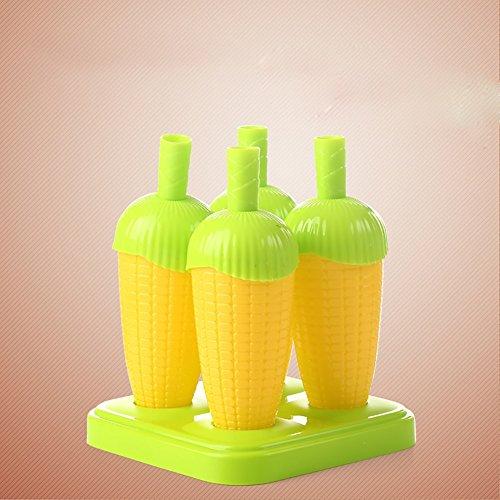 Ice Ice Maker Die Eiscreme-Eiscreme-Form, Nette und dauerhafte starke Silikon-Eis-Traumform-Form Eiscreme Selbst gemachte Eis Lolze Eis-Kuchen-Eiscreme-Form (Farbe : Gelb) (Cream Maker Oval Ice)