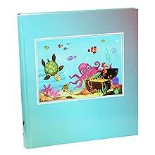 Idena Jumbo Album Sott'Acqua Mondo, FSC Mix, Circa 31,5 x 33,5 x 5 cm, 50 Pagine con Pergamena