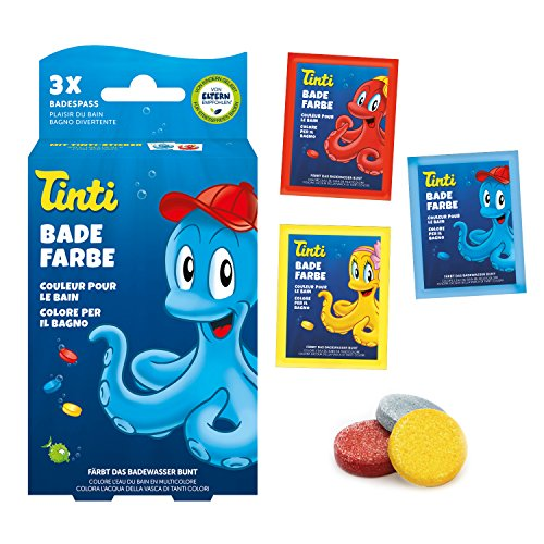 Tinti Badewasserfarbe 3er Pack (1x blau, 1x gelb, 1x rot)