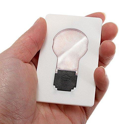 Inovey 2Pcs Portable Led Karte Leichte Tasche Geldbörse Brieftasche Notfall Lampe
