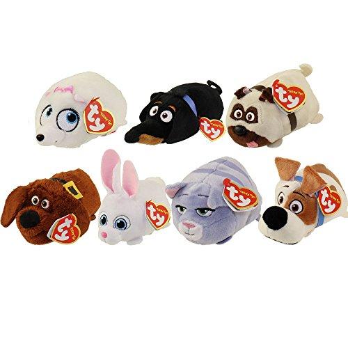 Teeny Ty's 'Secret Leben der Haustiere' Set von 7! Max, Gidget, Chloe, Mel, Duke, Snowball & Buddy Alle Ihre Lieblings-Charaktere !!