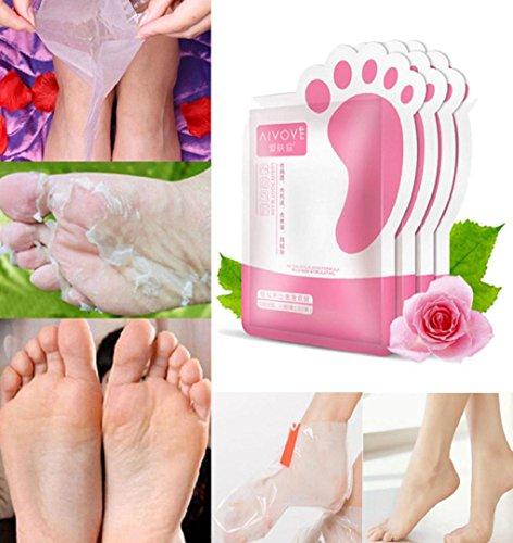 1 Parr Fuß Peeling Maske,ZEZKT-Beauty Foot Mask für die Füße glatt und zart wie Samt