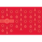 Geographics Christmas Red Foil Embossed Seals, 1.25 inches Dia, Red Foil, 40 Pack (49505)