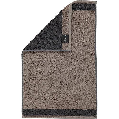 Cawö - Frottier Handtuch Brilliant Doubleface in verschiedenen Farben (608) , Farbe:Kiesel (37), Größe:3 Handtücher (50x100 cm) (Tuch Kiesel)