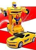 #6: 2in1 Converting Transformer Robot Car Toy for Kids (Multi Color)